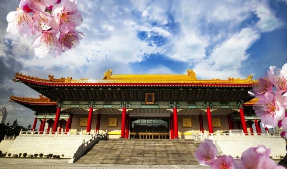 Kinesisk byggnad online pussel