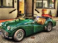Een unieke auto - kleurrijke puzzel