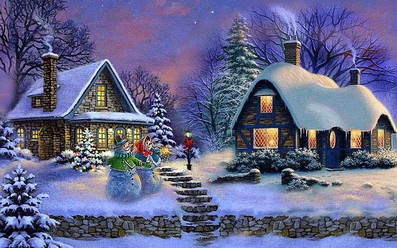 Photo rurale de Noël - Une image rurale festive (10×10)