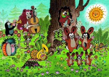 Fairy tale - An animated Czech series that loves children from more than 60 countries. Its creator is Zdeněk Mil