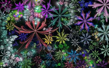 Colorful fractal flowers - Colorful fractal flowers