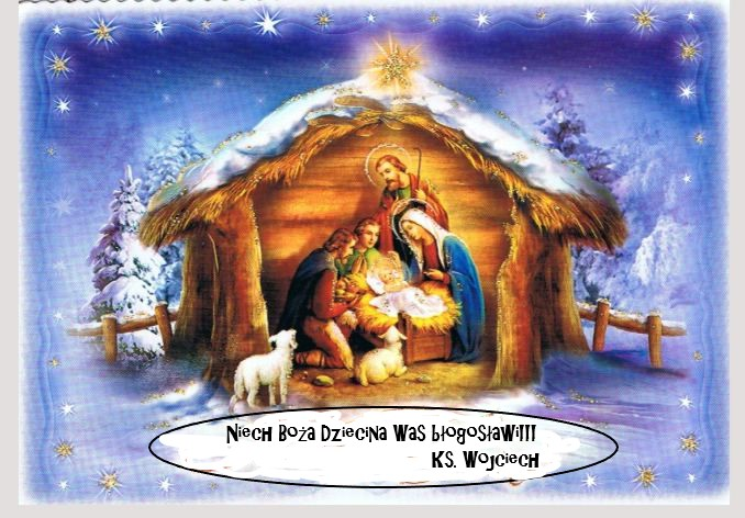 Nativity Scene - Nativity Scene. Nativity scene with greetings. Postcard with wishes (4×4)