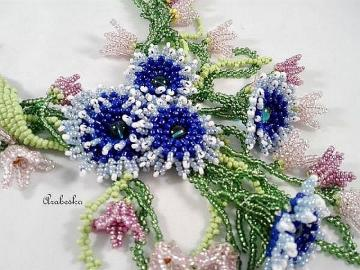 Flowers with colorful beads - Flowers with colorful beads