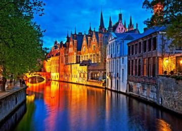 """Flemish Venice - Bruges - A fabulous spot on the map of Europe. Bruges, located in north-western Belgium, is called the """""""