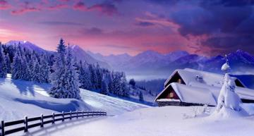 winter in the mountains - winter jigsaw puzzle