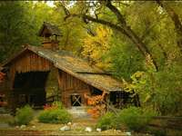 A HOUSE IN LESA - colorful puzzle jigsaw