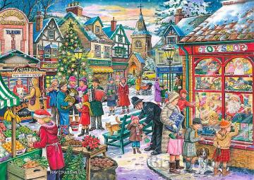 A holiday in the town - Festive in the town. Christmas scene.
