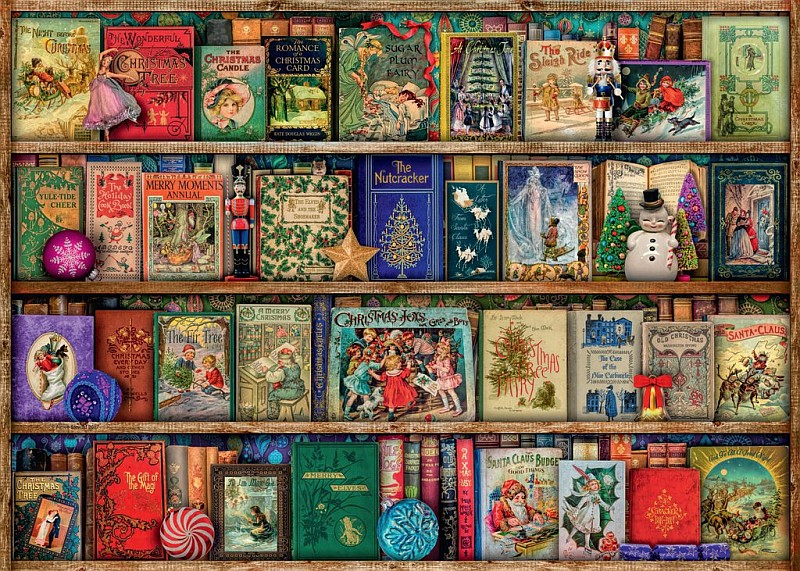 Bookshelf with books for child