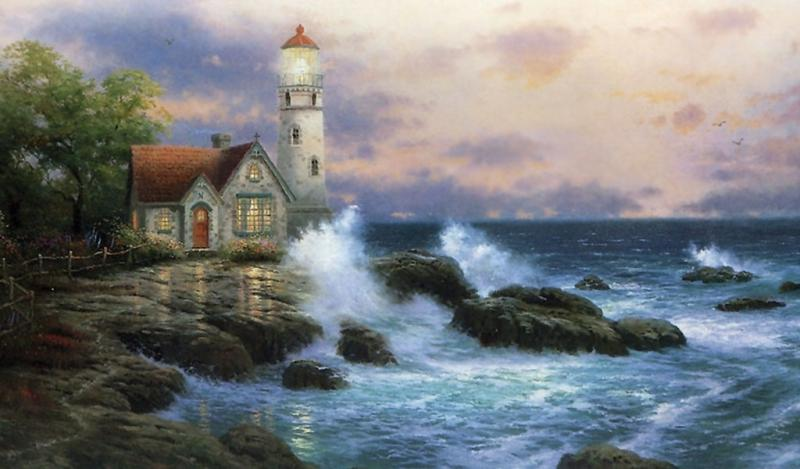 LIGHTHOUSE - colorful puzzle jigsaw (10×10)