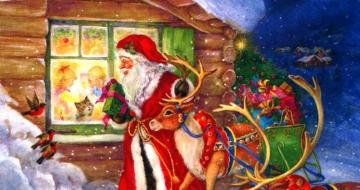 Merry Christmas - Christmas sc - colorful Christmas puzzles. Christmas scene.