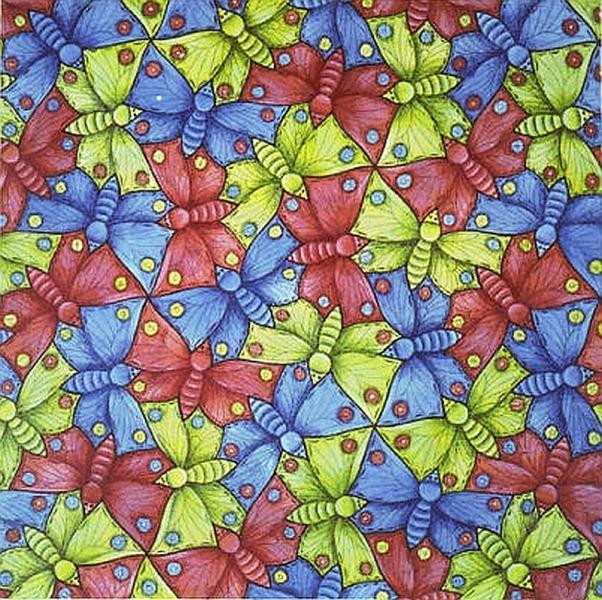 Puzzle avec des papillons (10×10)