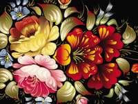 Festett virágok