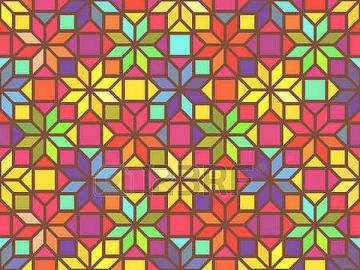 Puzzle géométrique fait de chi - Casse-tête géométrique en chiffres
