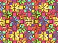 Geometriskt pussel med figurer