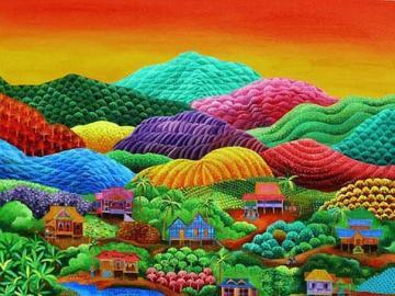 Naive painting-landscape - Naive painting-landscape