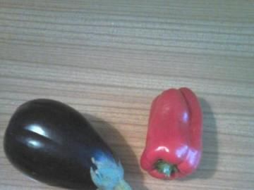 vegetables - tomato, red pepper, chili pepper and eggplant
