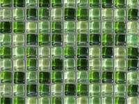 Mozaic de sticlă verde