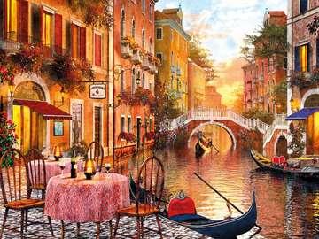 Schilderij - Venetië - Schilderij - Venetië