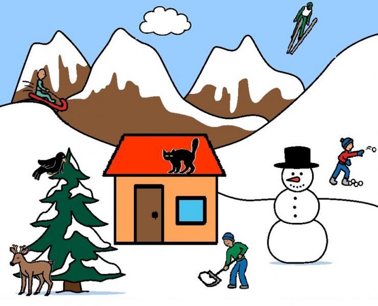 hiver en montagne