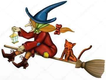 Boszorkány egy seprűn