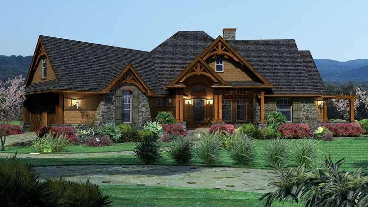 casa de madera - casa, madera, hierba, balcón (10×10)