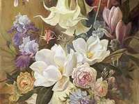 flowers in painting - beautiful flowers in painting