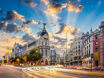 Spain - Madrid - The capital and largest city of Spain, located in the central part of the country on the Castilian P