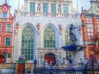 Gdańsk-Neptune - színes Gdansk puzzle