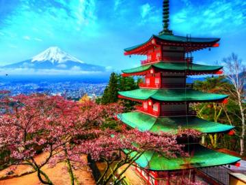 Mount Fuji - Japan - Mount Fuji, or the holy mountain of the Japanese