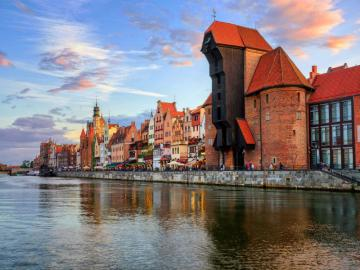 Crane Gate in Gdansk - The Gdansk crane is a historic, oldest port crane in Europe preserved in Europe. Its construction la