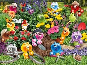 Today we work in the garden