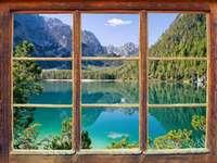 paisagem - janela vista natureza imagem