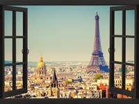 vista da janela - paris vista janela edifícios