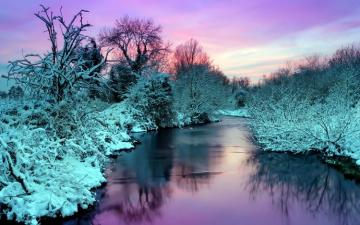 Colors of winter - Winter evening by the river