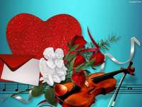 Valentine's Day just outside - play fiddler melodies for me in love.Special day.