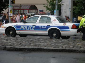 Canadian police car - Police police car on the street in Ottawa