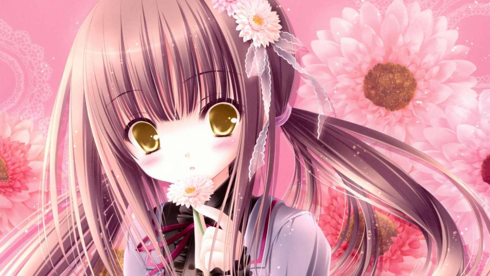 Anime meisje - Anime meisje. Fotobehang van een meisje (10×10)