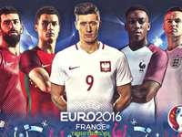 EURO-2016 Franciaország - színes puzzle
