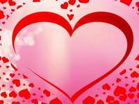 Valentine's puzzle - colorful puzzle-puzzle