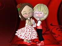 Св. Валентин - пъстър пъзел