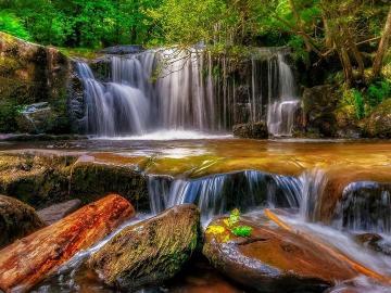 cascade - cascade, roches rouges, pierre