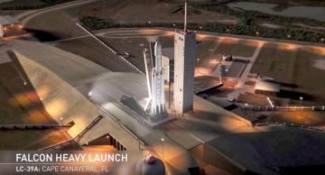 Falcon Heavy - This contains the photo of Falcon Heavy before its launch