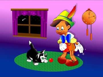 Pinocchio - jeu simple pour les enfants