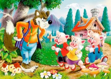 the piggies - the fairy tale of the three little pigs