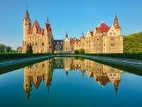 Castello di Moszna - Moszna si trova sulla rotta di comunicazione che collega Prudnik a Krapkowice. Il nome del villaggio