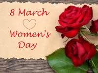 Nőnap - színes puzzle a nők napja