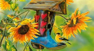 sunflowers - colorful jigsaw puzzle