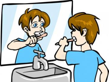 brushing teeth - simple 6 element puzzle
