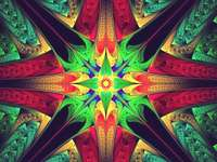 Abstraction - colorful jigsaw puzzle