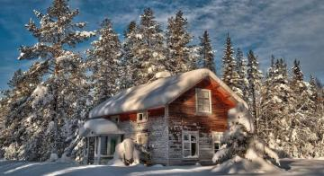 Winter scenery - colorful jigsaw puzzle